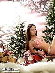 Lovely Brunette Puts Her Flawless Little Booty On Her Sled, So She Can Give You A Good Time On Her P