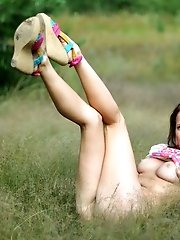 Hot Redhead Strips Her Clothes In The Fields Of The Country Side To Spread Some Of Her Lust And Sexi
