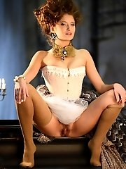 Very Cute Teen Girlfriend Posing In Vintage Outfit. The Best Part Is The Artistic Approach To Show H