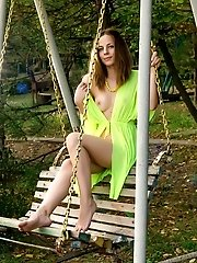 She Just Loves Swings So Much, She Just Got Horny From Sitting On One And She Is So Hot And Amazing