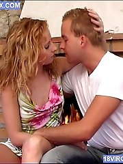 Curly Blonde Teen Gets Seduced And Fucked At Home