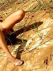 Blonde Teen Reveling In The Sun And We Can See Her Naked Body In All Details