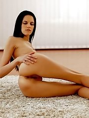 Raven Haired Mia Michele Takes Her Time Heating Up Her Super Skinny Body Then Rides Her Magic Finger