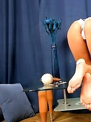 Hot Anny Pets Herself Passionately.