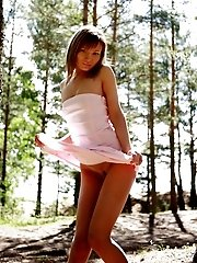 Angelic teen girl with delicious parts allows you to watch her funs in front of her own camera.