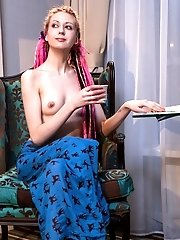 Her Pink Teen Pussy Is Ready For The World To See While She Gets All Naked And Lust Full For You And
