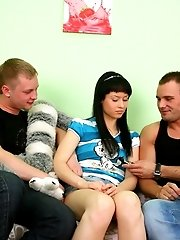 From interview air dildo BJ to DP toying