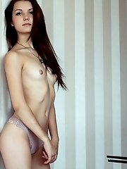 This Sexy Skinny Teen Has Some Incredible Fun As She Bends Over To Show Off That Neat Slice Of Teen