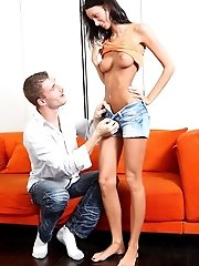 Dark Haired Wench Fucked With The Unknown Guy.